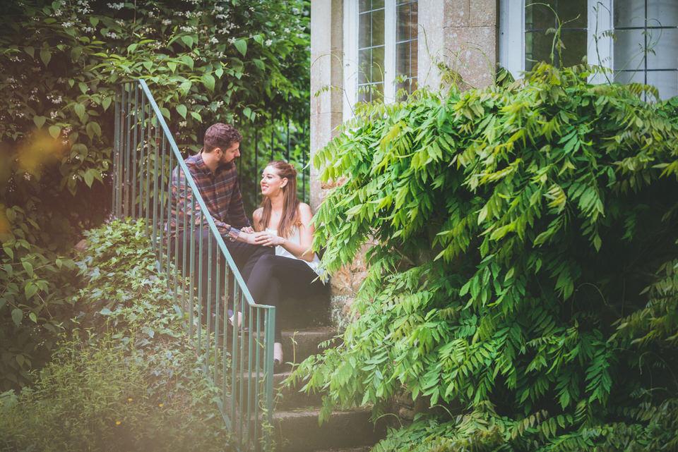 Swansea pre-wedding photo shoot Clyne Gardens