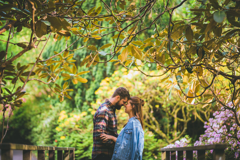 Swansea pre-wedding photo shoot couple holding each other
