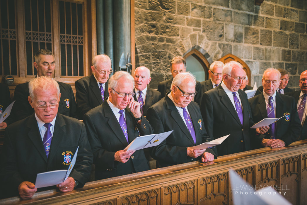choir singing at church ceremony