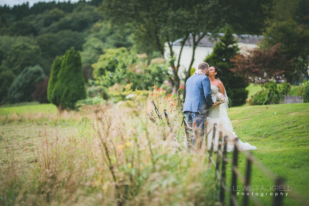 New House Hotel Wedding Bride Groom on lawn
