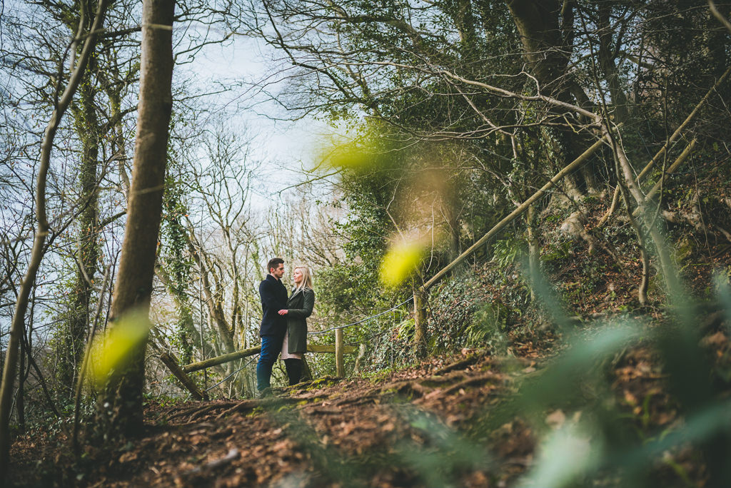 Castell Noch pre-wedding in woods