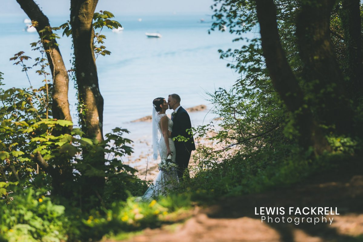 Oxwich Bay Gower Wedding photography of couple on beach