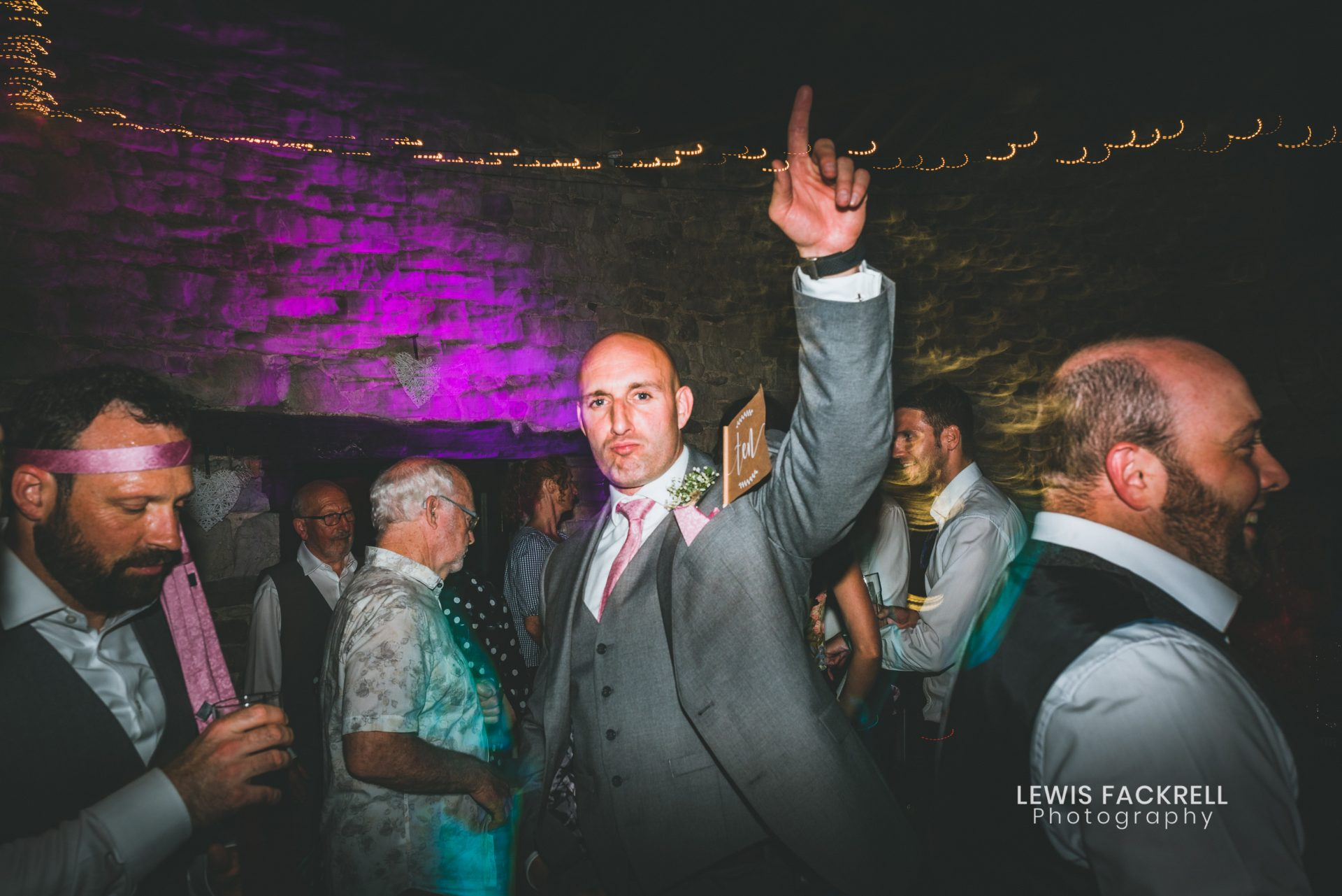 Natural and relaxed wedding photographer in South Wales - Dance floor party