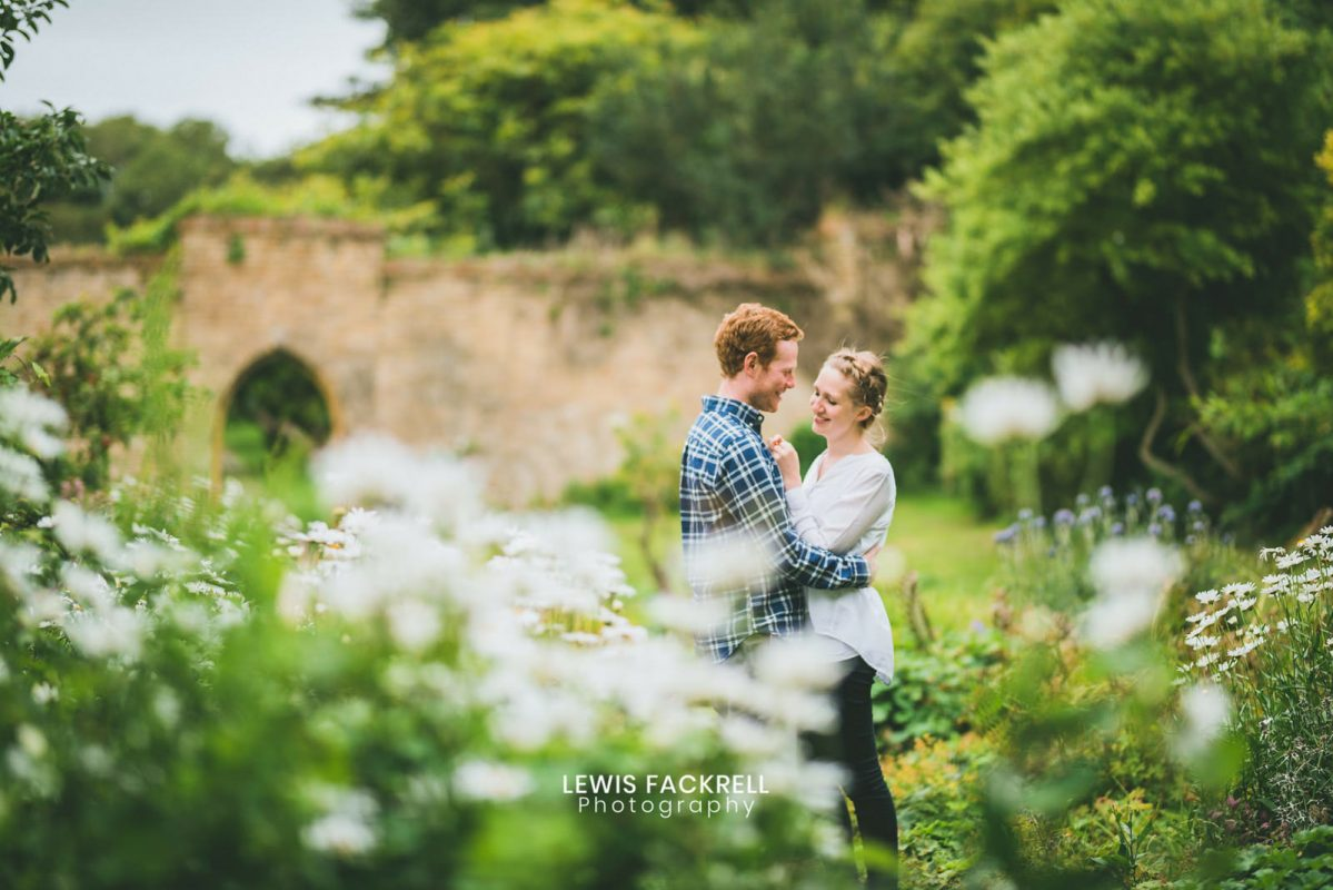 Ogmore pre-wedding of couple in field