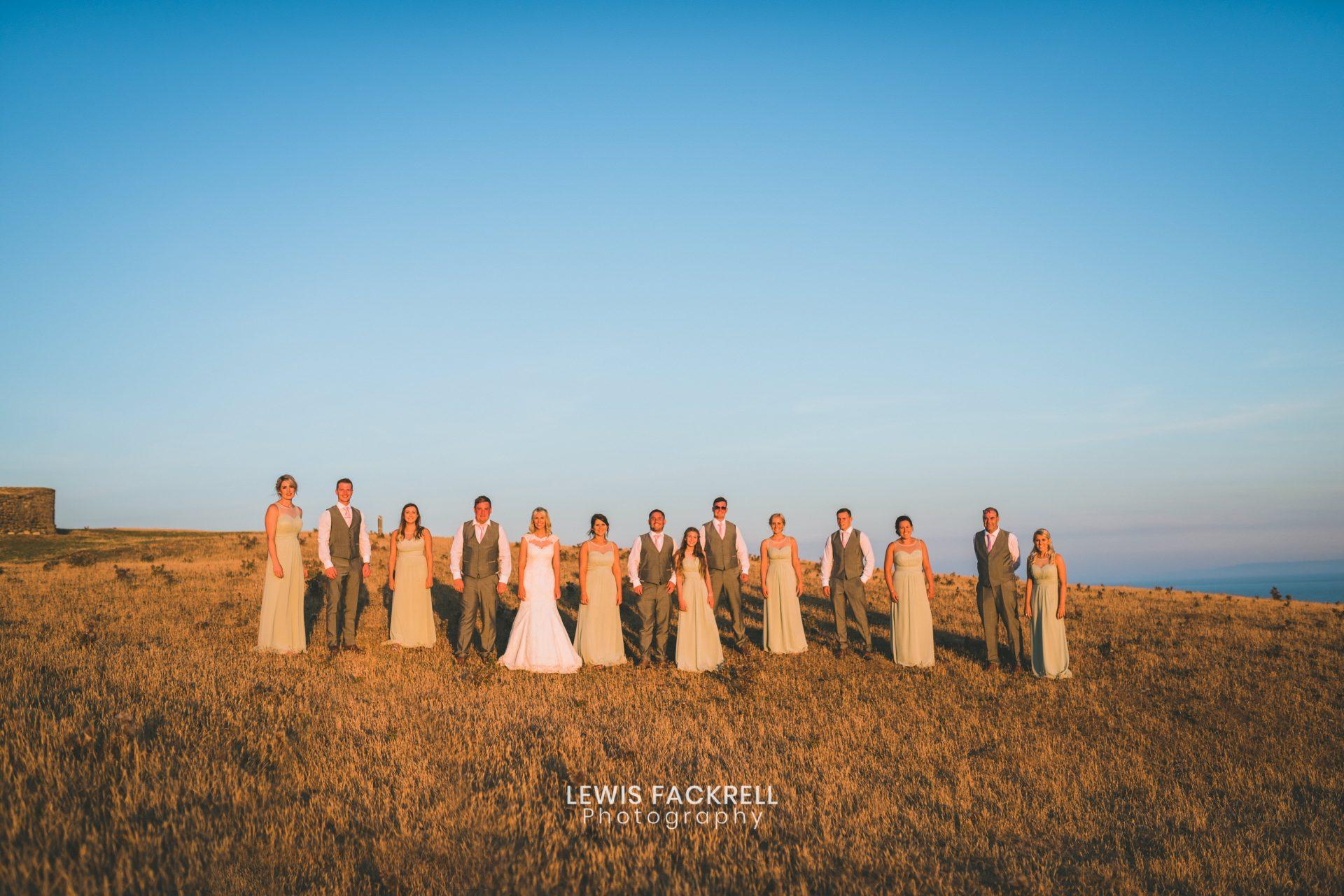 Wedding formal group photos of bridesmaids and groomsmen