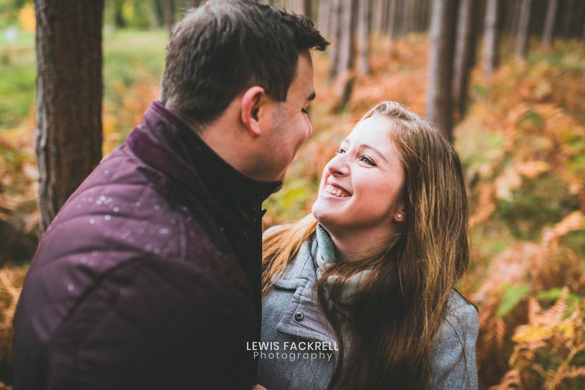Stafford pre-wedding photography in the woods with Aleysha & Adam