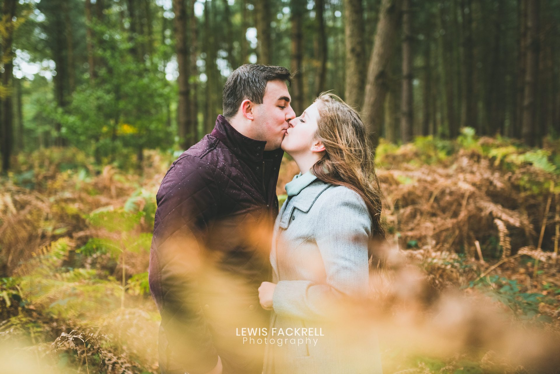 Stafford pre-wedding photography in the woods