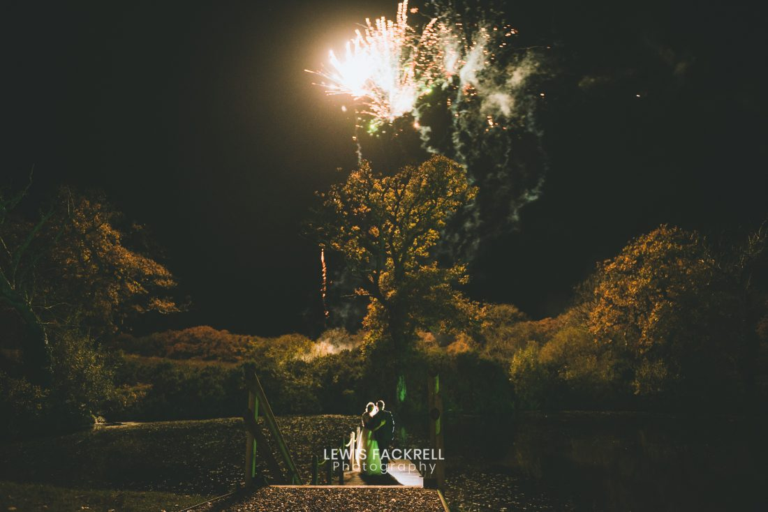 Oldwalls Gower Wedding photography of Olivia and adams fireworks