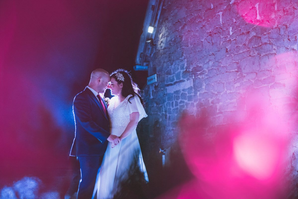 Lyde court wedding photography of couple on their new years wedding day
