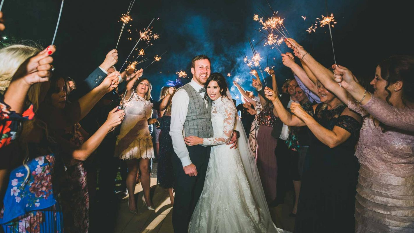 Cardiff-weddng-photographers-videographers-south-wales-couple-at-decourceys-with-sparklers