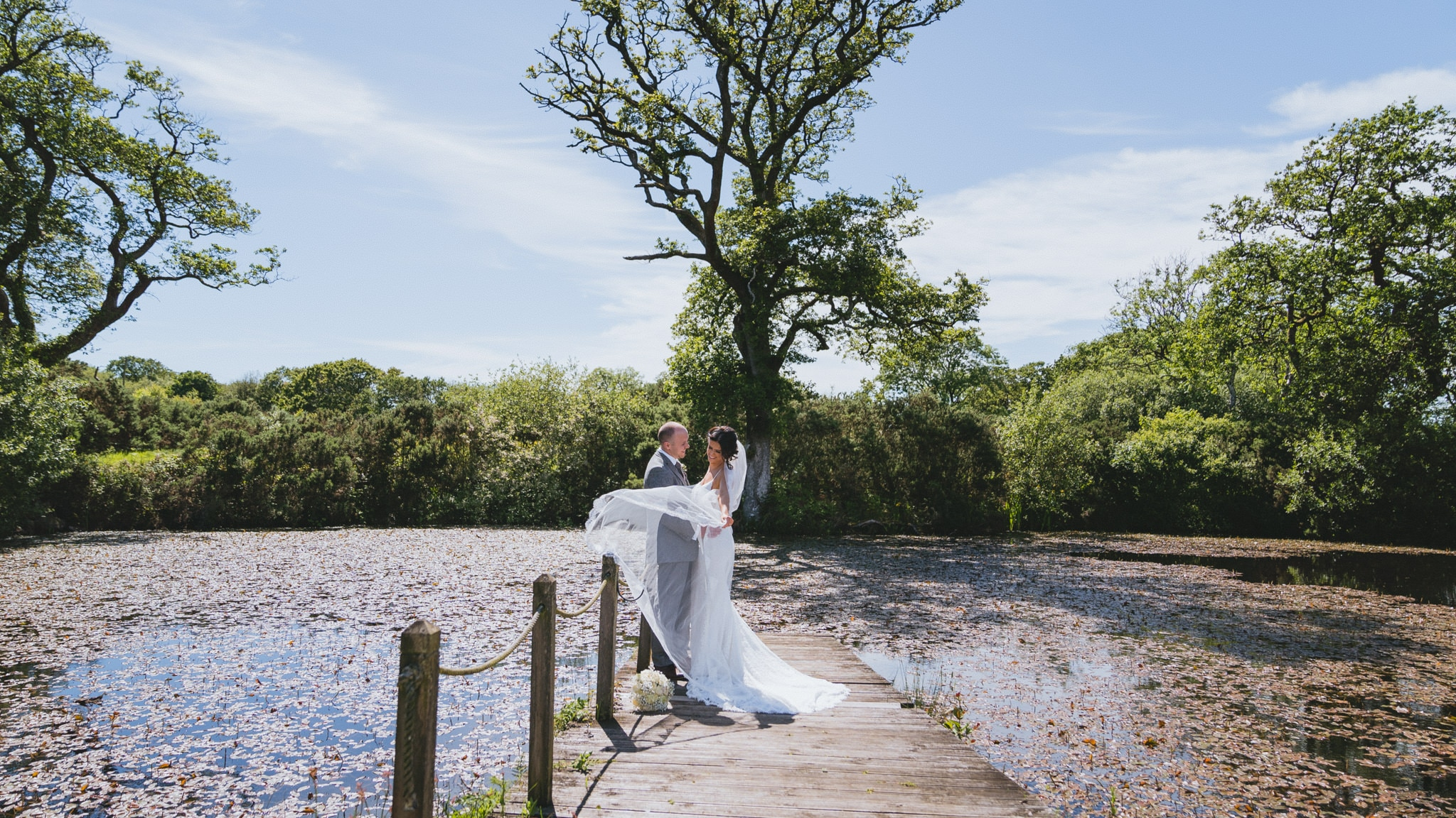Oldwalls wedding photography of Bride and groom at oldwalls gower for their wedding in May