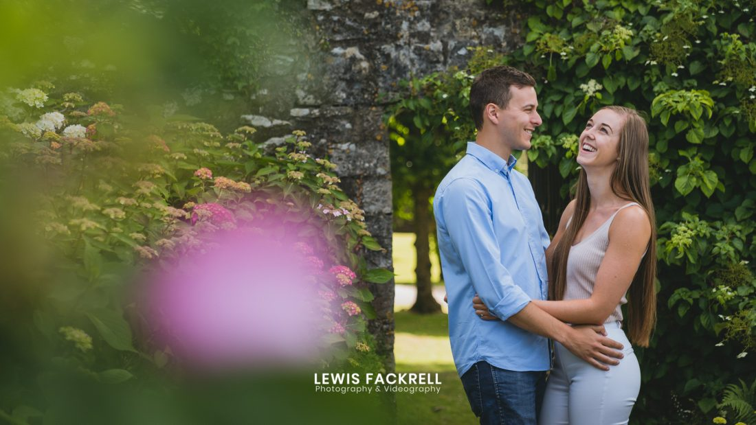 Cardiff pre-wedding photography session of Chloe and Ben during their session in the summer at St Fagans