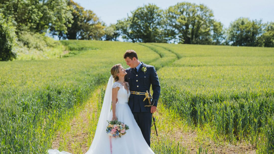 Garden marquee wedding in south wales