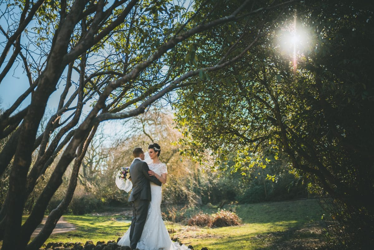 Couple portraits at Bryngarw wedding photography