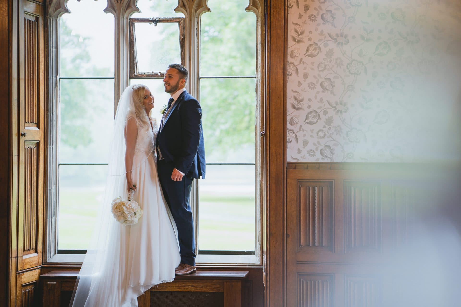 Harriet & Darren at Hensol castle during their wedding photography