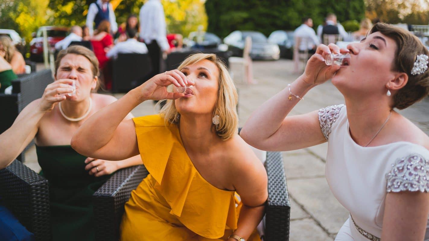 shots at wedding celebrations