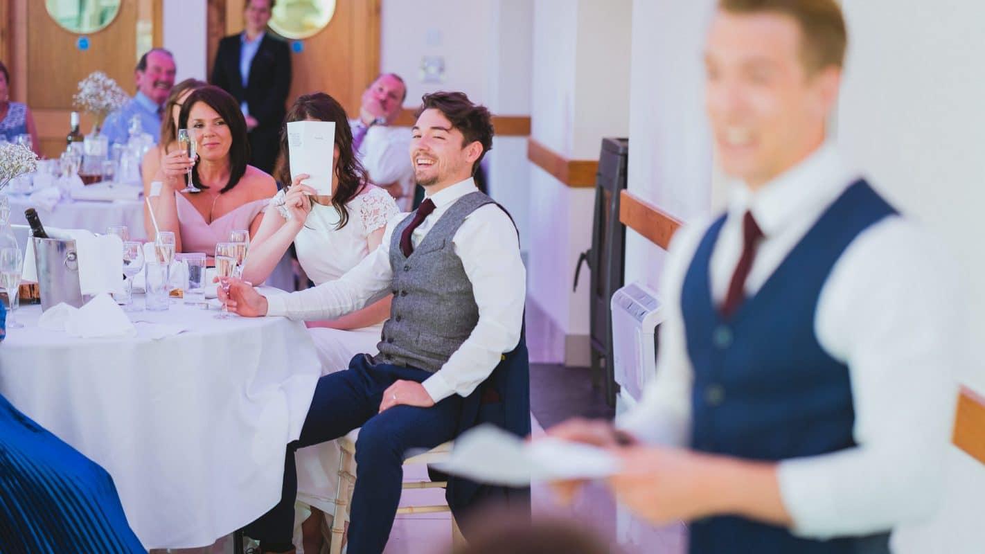 embarrassment of bride during speeches