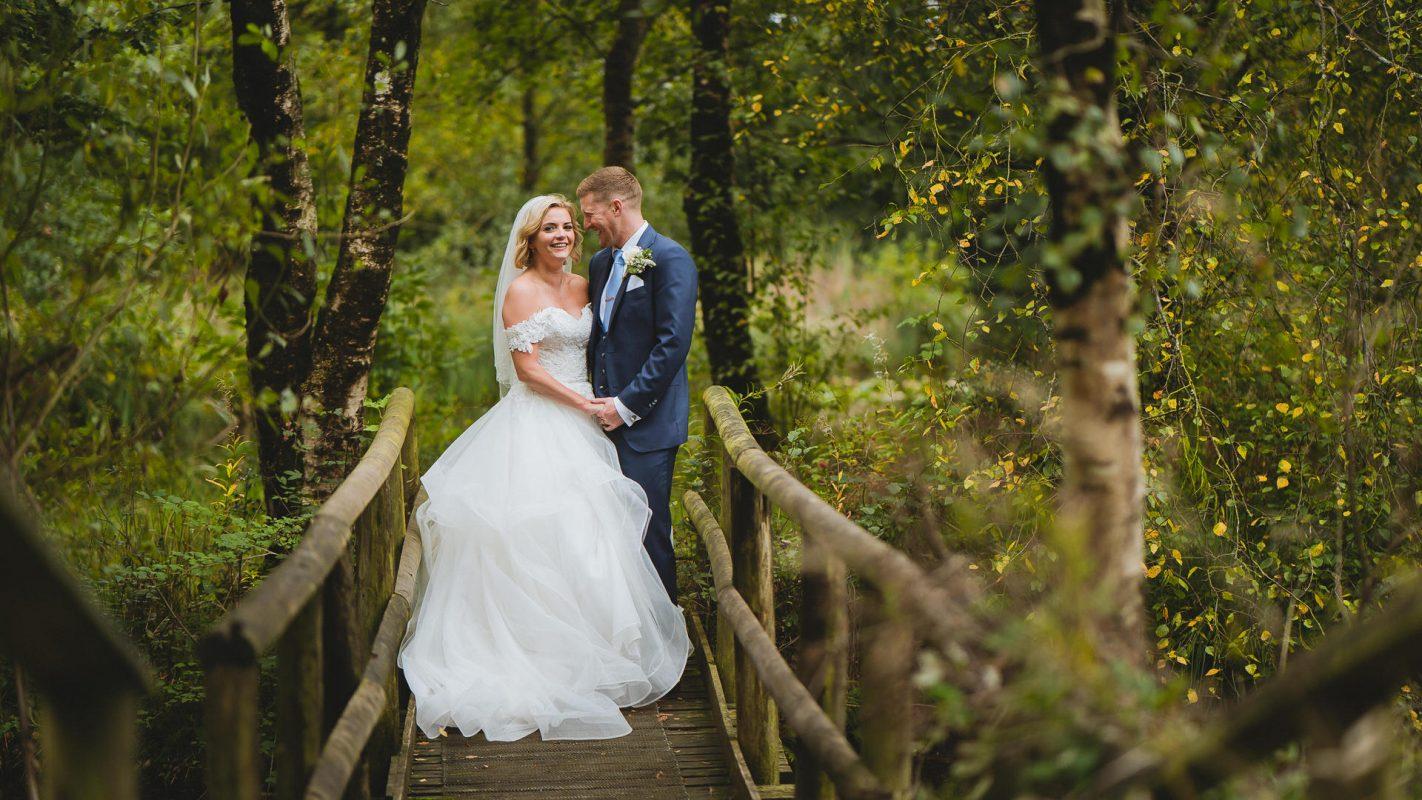 bride and groom at llanerch vineyard