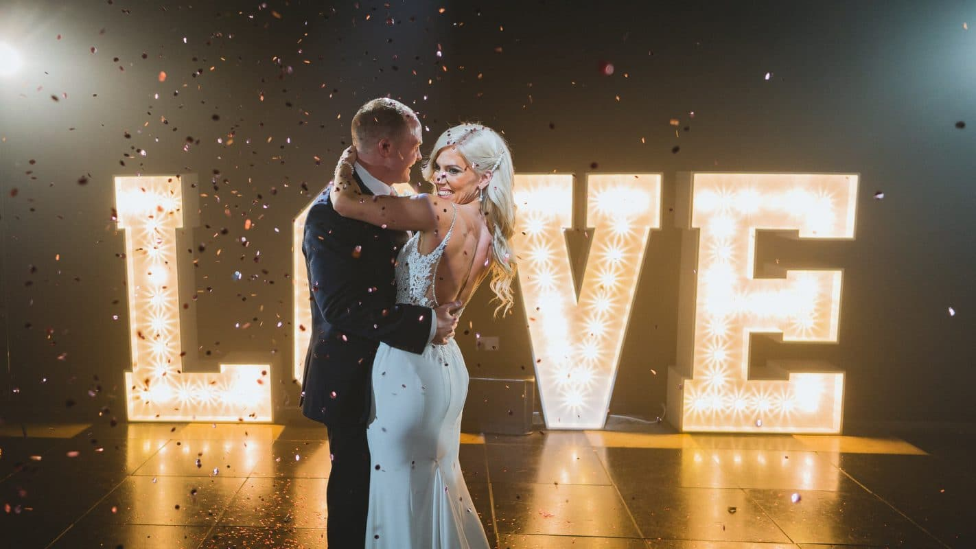 first dance at oldwalls wedding venue in South Wales