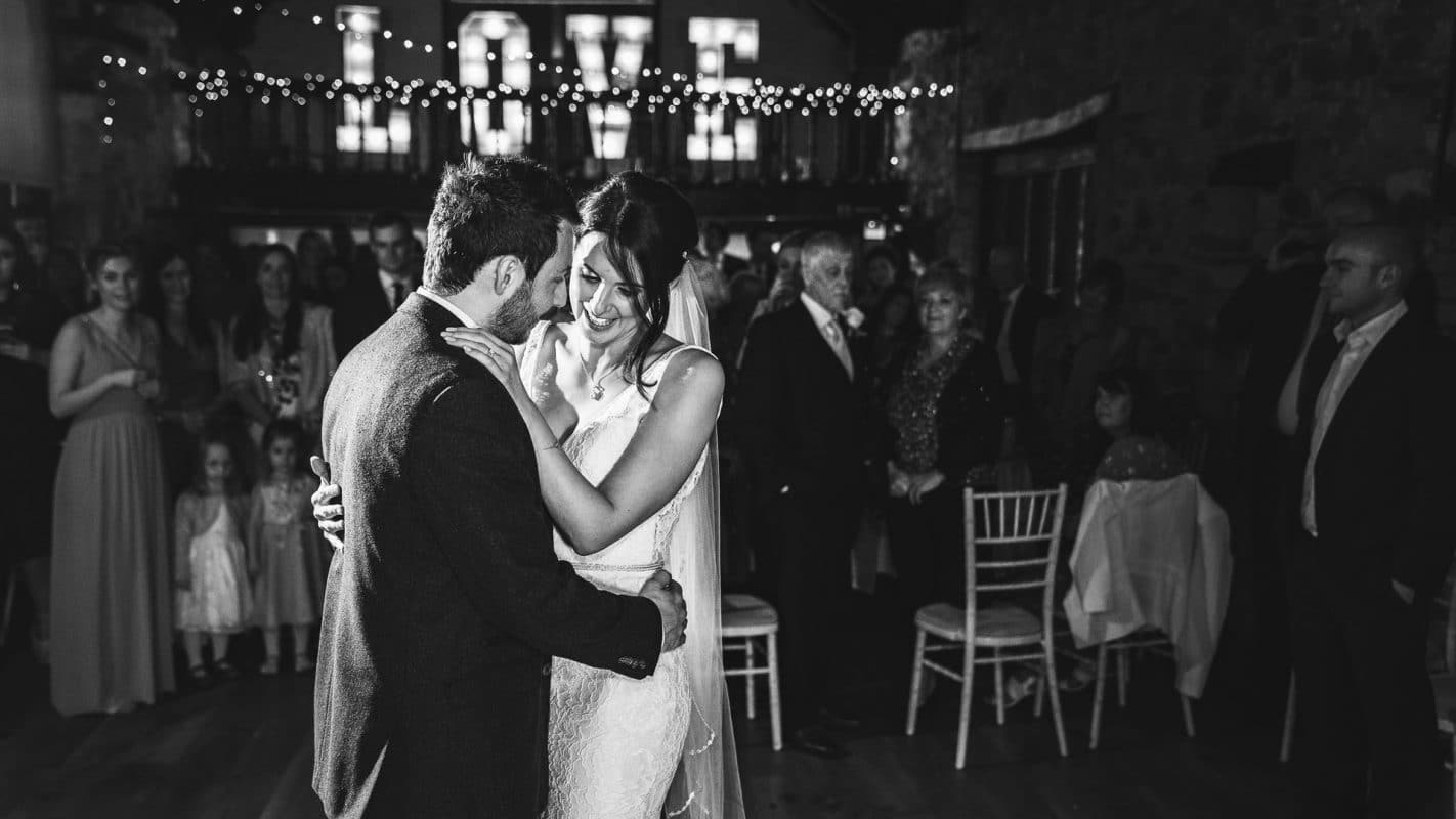 first dance of couple at Pencoed House