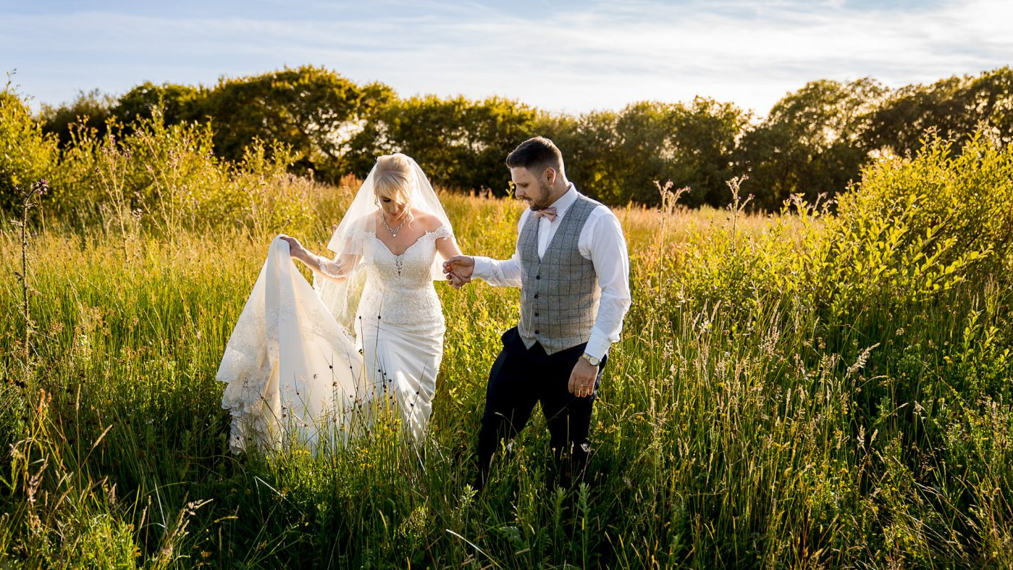 Oldwalls and Fairyhill wedding photography of bride and groom getting married