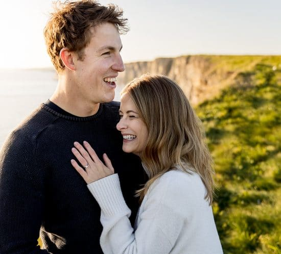 pre-wedding photography of bride and groom in South Wales