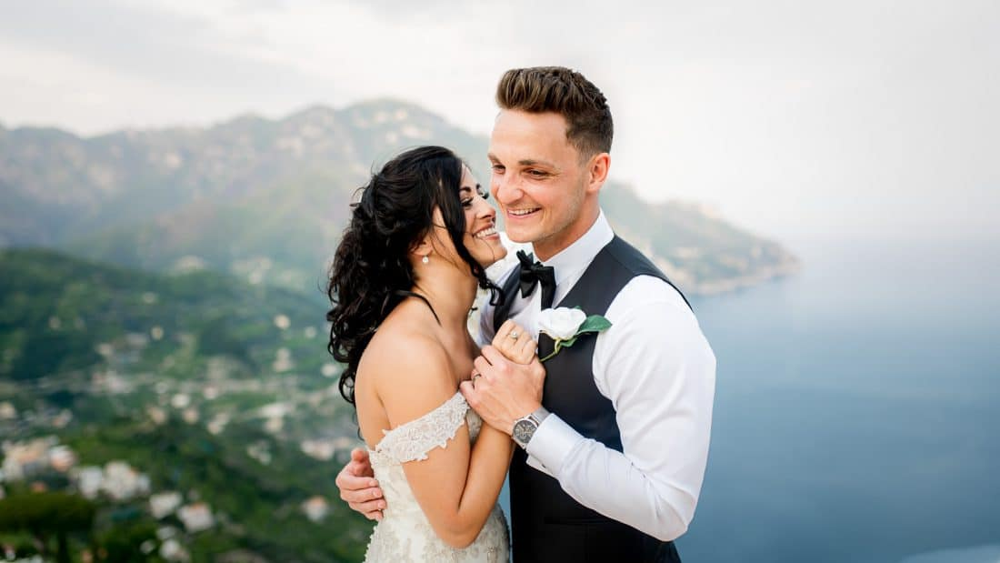 best wedding photography ravello wedding in Italy on balcony at Villa Eva close up