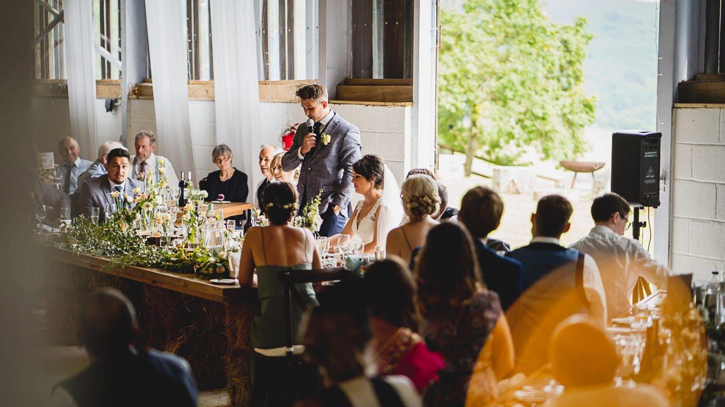 Speeches at sugar loaf barn wedding